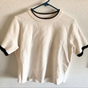 Zara Size S Short Sleeve Sweater
